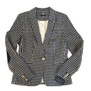Tommy Hilfiger Elbow Patch Checkered Blazer NWT